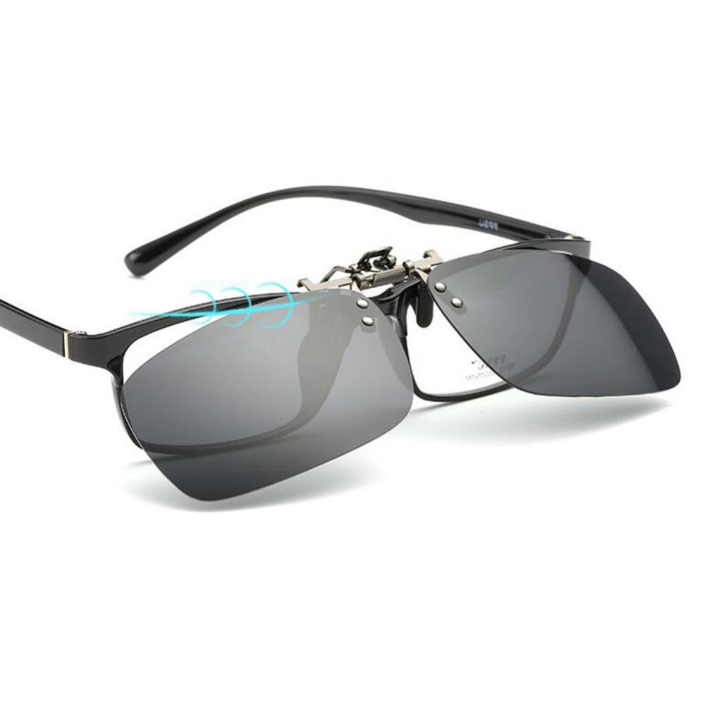 83ee7680bb6dac Polarized Clip-on Flip-up Myopia Lens Sunglasses UV400 Lens for Driving  Fishing for Christmas