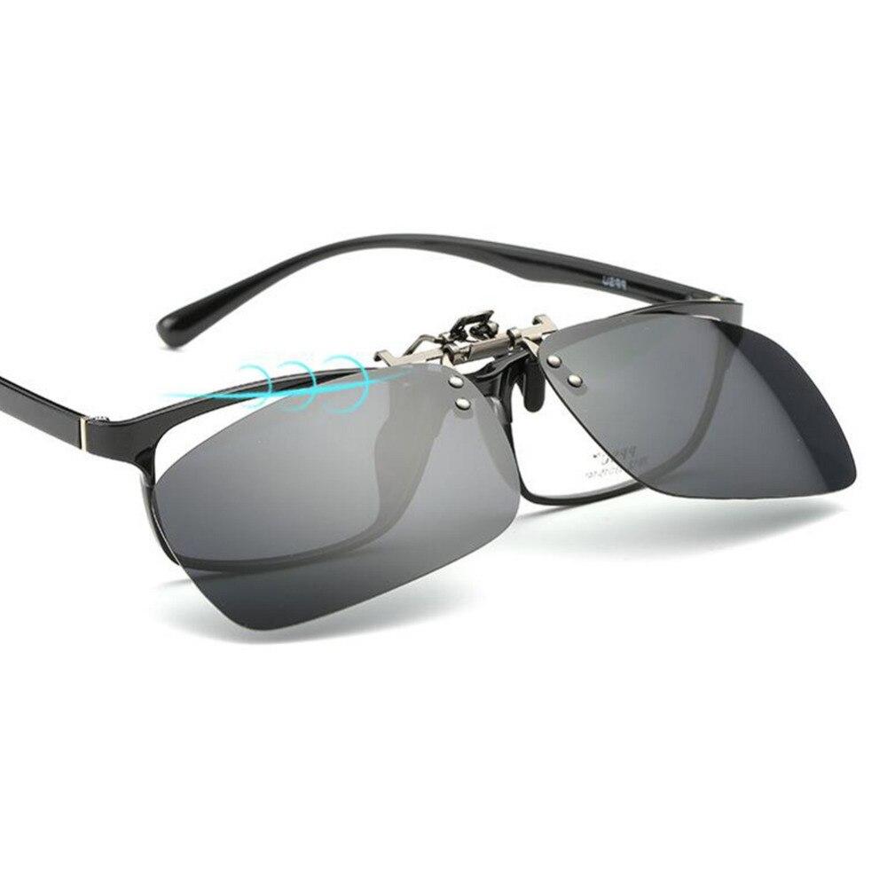 f46dfe44f9 Myopie lunettes de Soleil Polarisées Clip sur Flip up Clip En Métal Lunettes  De Soleil Lentilles Lunettes Incassable Conduite Pêche Sport En Plein Air  dans ...