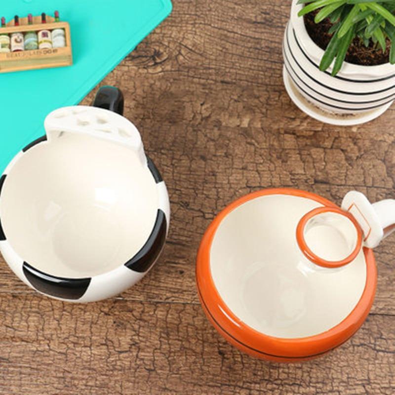 430 ml taza de café creativo lindo de la leche de baloncesto patrón de fútbol desayuno de la avena helado taza de café