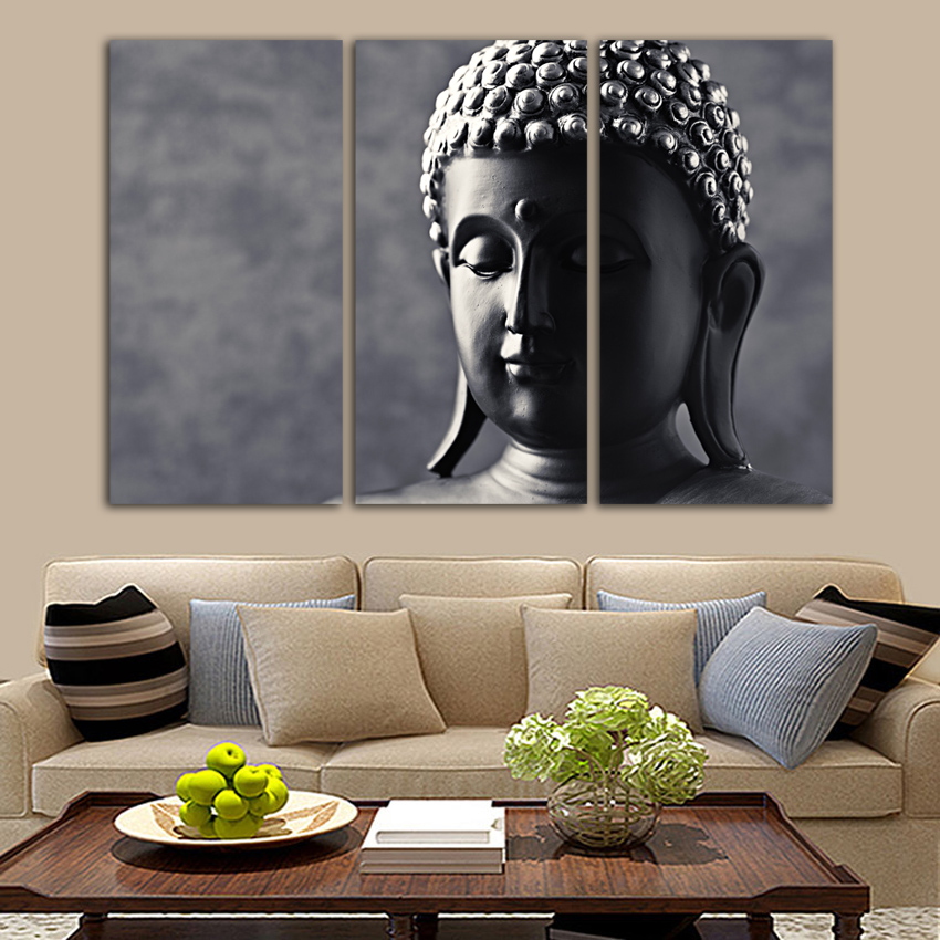 Meditation Home Decor: Free Shipping Buddha Canvas Painting Joss Poster Vintage