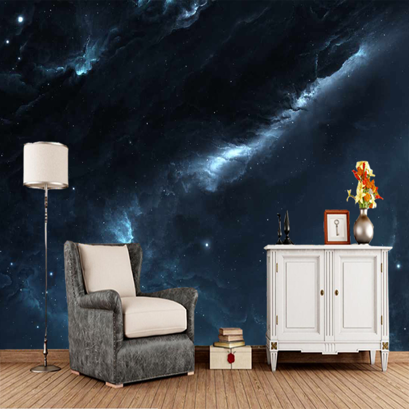 Customized papel de parede infantil, nebula cosmic mural used for living room bedroom sofa background decorative wallpaperCustomized papel de parede infantil, nebula cosmic mural used for living room bedroom sofa background decorative wallpaper