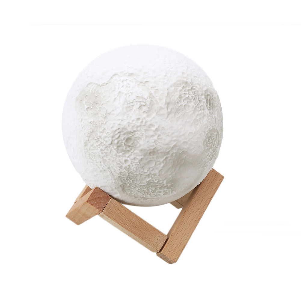 3D Moon Night Light Print Simple Personality Lunar Lamp Home Decoration Gifts