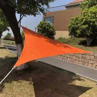 3x3m Waterproof Shade Sail Screen Net Polyester Cloth Spin Sail Square Sails Outdoor Shade Oxford Cloth Wind Shading
