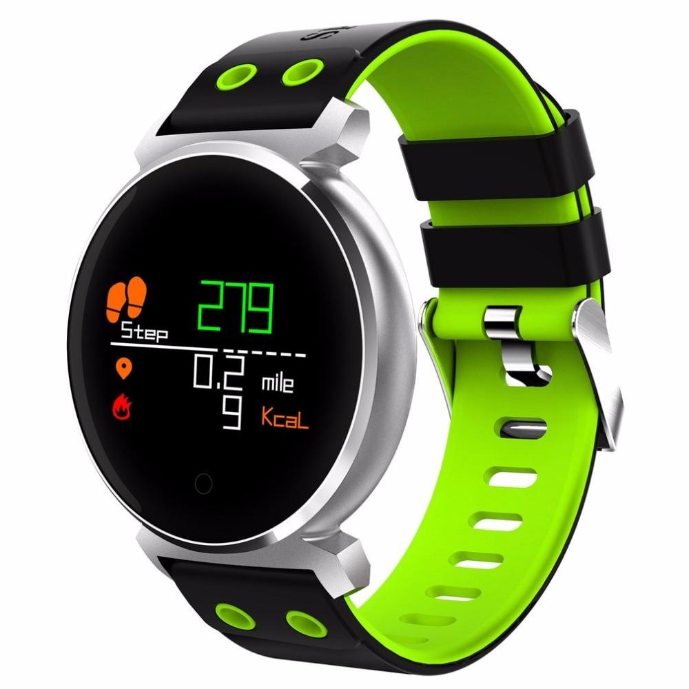 K2 Bluetooth круглый Smartwatch Водонепроницаемый IP68 сердечного ритма/крови Давление/кислорода в крови Смарт часы для iOS/Android телефоны