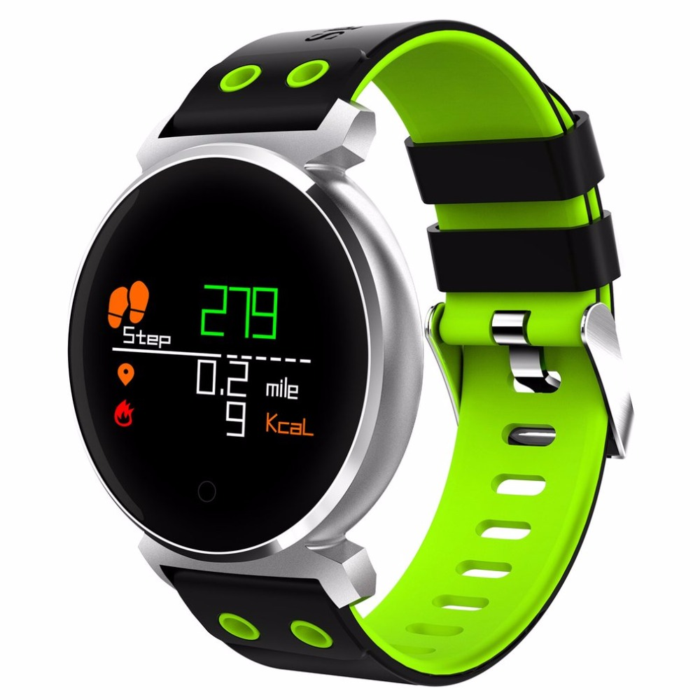 K2 Bluetooth Round Smartwatch Waterproof IP68 Heart Rate/Blood Pressure/Blood Oxygen Smart Watch for iOS / Android Phones