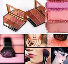 Moda maquiagem 6 Cor Blush Palette Maquiagem Profissional de Longa Duração Natural Bochecha Elegante Estética Facial Blush Colorete