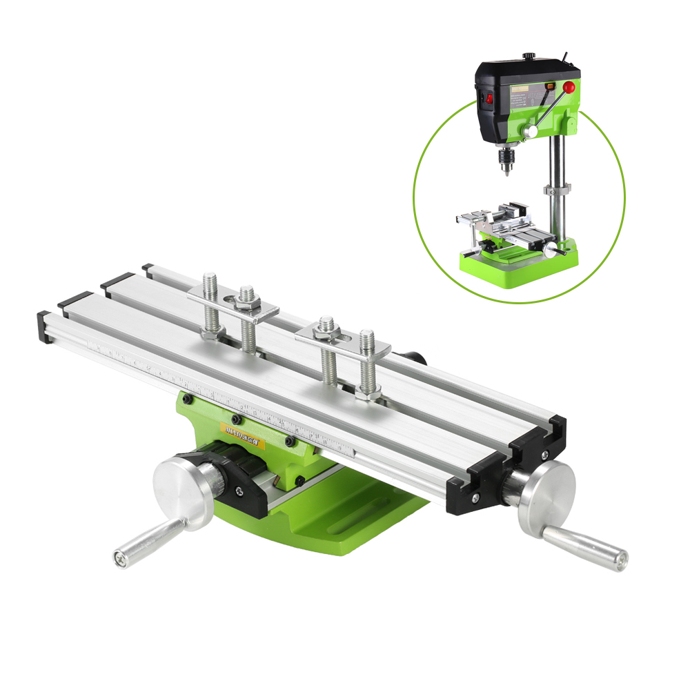 Mini Compound Bench Drilling Slide Table Worktable Milling Working Cross Table Milling Vise Machine for Bench Drill Stand цена
