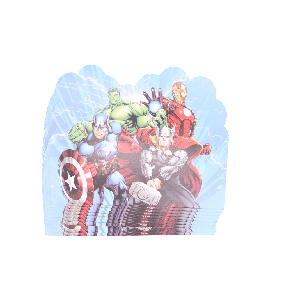 10 Uds Avenger Suministros Tarjeta De Invitación Baby Shower Tarjeta Cumpleaños Fiesta Boda Decoración Niños Suministros