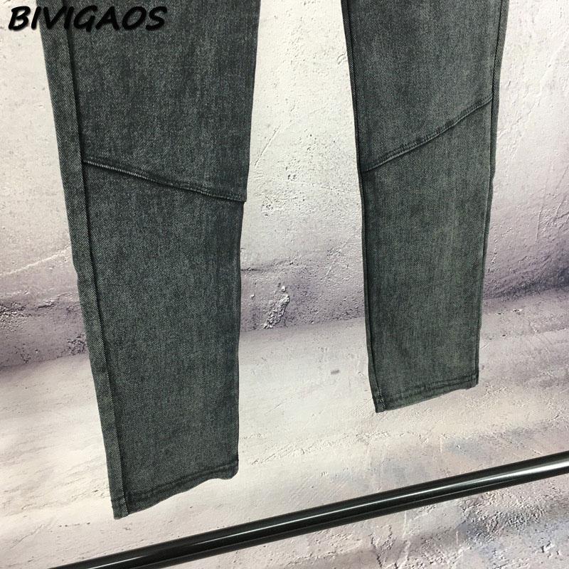 BIVIGAOS Fashion Women Casual Slim Stretch Denim Jeans Leggings Jeggings Pencil Pants Thin Skinny Leggings Jeans Womens Clothing 24