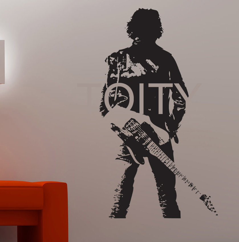 Bruce springsteen wall sticker guitarist vinyl decor music for Baby boy tupac mural