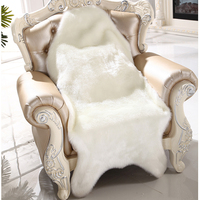 Artificial Sheepskin Fluffy Fur Chair Seat Sofa Cover Carpet Mat Pad Area Rug Bedroom Washable Decorative