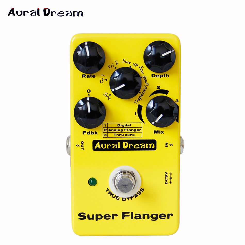 Aural Dream Super Flanger Digital Pedal with 18 Flanger Effects guitar pedal aural dream super flanger digital pedal with 18 flanger effects guitar pedal