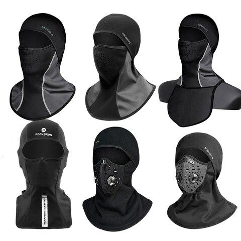 ROCKBROS Ski Mask Winter Thermal Fleece Full Face Cover Scarves Outdoor Balaclava Windproof Cycling Headgear Sport Equipment Multan