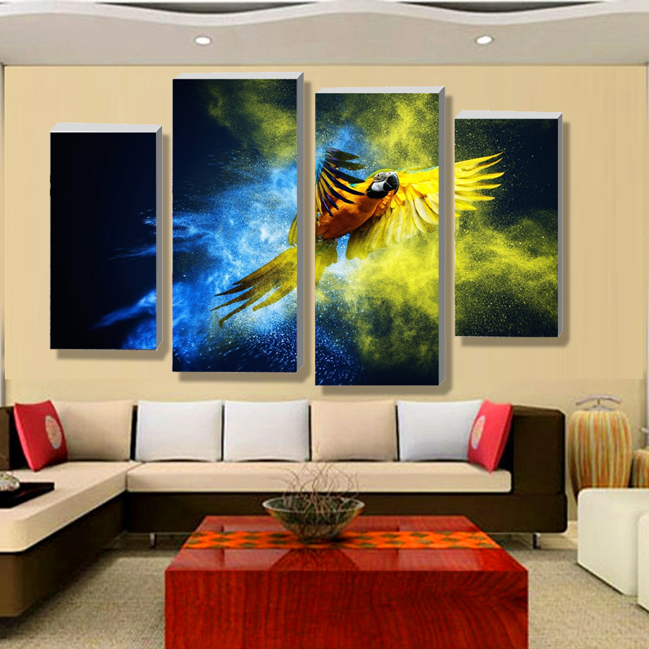 4 panel unframed abstract wall art picture printed canvas for Canvas art on sale