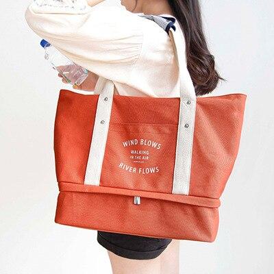 Большой Холст Дорожная сумка для хранения сумки практическая Туристические товары покупки мама ежедневно Применение отдельные одежда Обу...