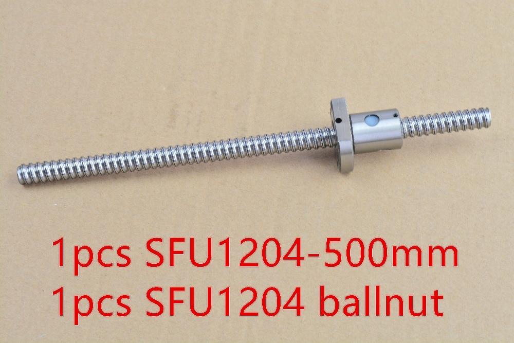 diameter 12mm ball screw RM1204 screw length 500mm and SFU1204 ball nut CNC engraving machine 1pcs