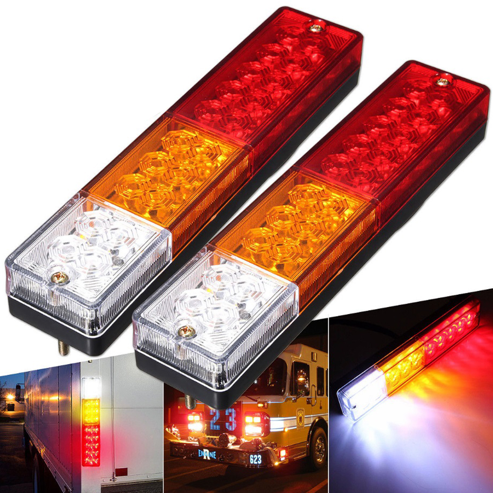 Led Lampen 12v 2pcs 12v Car Trailer Lights Led Stop Rear Tail Brake Reverse Lights Turn Indiactor Atv Truck Caravan Aanhanger Led Verlichting