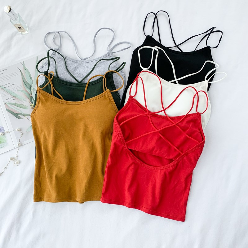 6 Colors Womens Wireless Bras Seamless Bra Padded Solid Tank Top Push Up Wireless Tube Tops