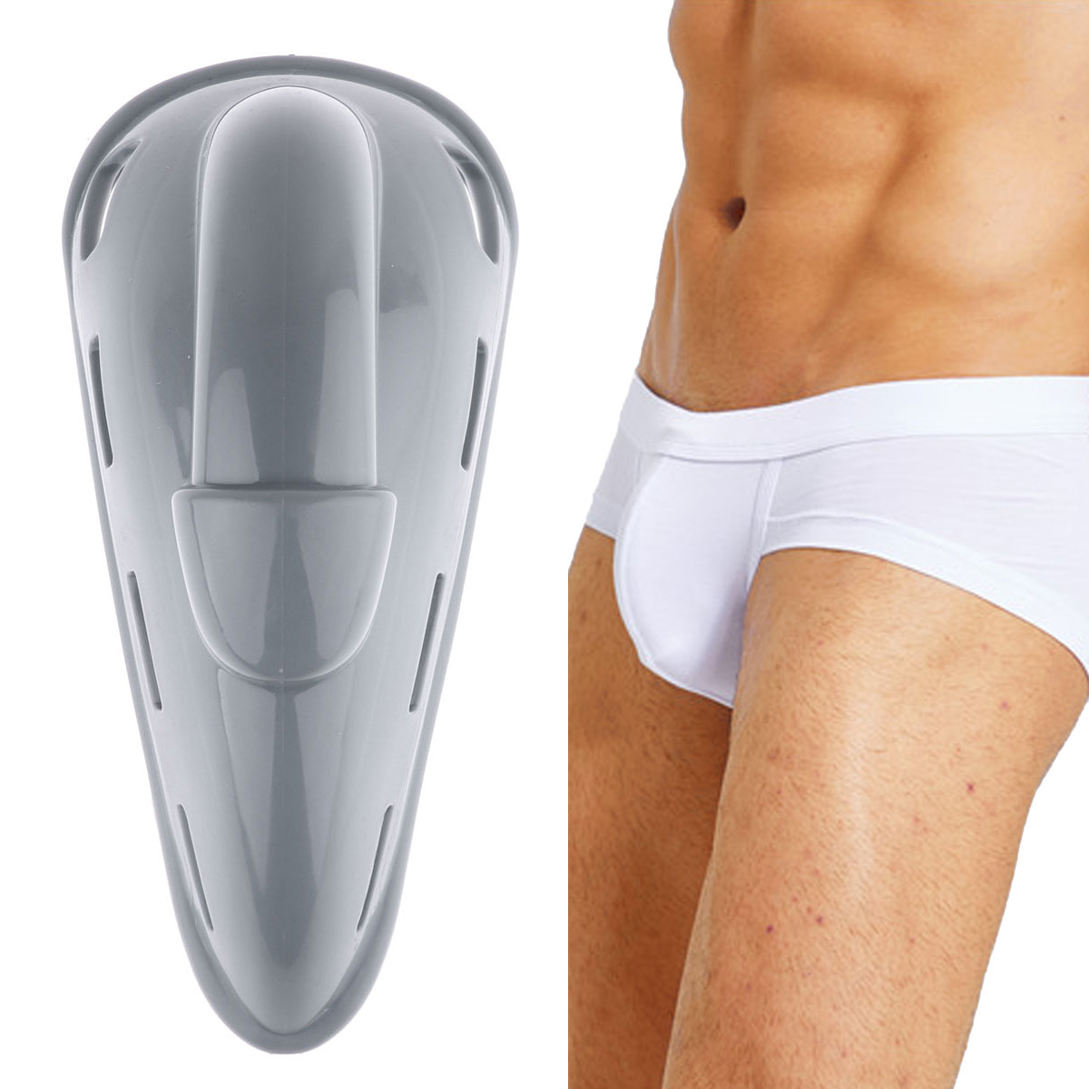 741300622c PP Silicone Cup Enhancer Men Enlarge Penis Pouch Protection Pad Swimwear  Briefs Removable Pads Inner Cushion