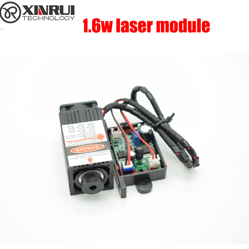 1600mwhigh power 450NM focusing blue laser module laser engraving and cutting TTL module 1600mw laser tube+laser protect goggles