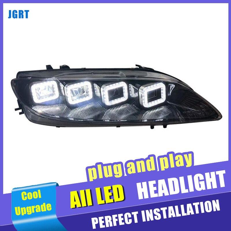 M6 LED dynamic turn signal 8 lens Head Lamp car styling for Mazda 6 all led headlights 2003-2013 led high beam low beam led drl