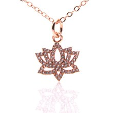 Buy lotus pendant necklace and get free shipping on aliexpress lotus pendants necklaces for women vintage elegant plant flower inlaid transparent zircon pendant accessories necklace jewelry audiocablefo light catalogue