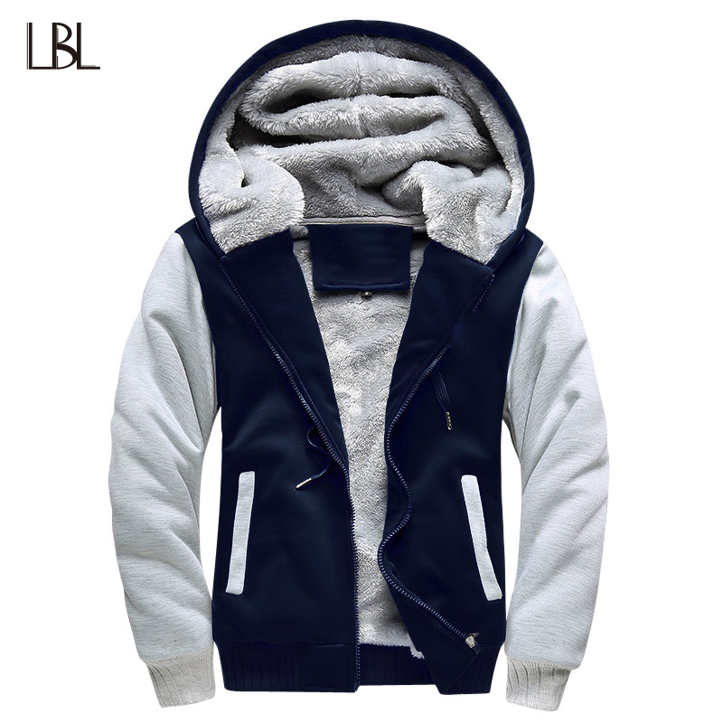 USA Size Bomber Jacket Men 2018 New Brand Winter Thick Warm Fleece Zipper Coat for Mens  ...