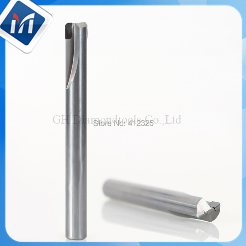 PCD Two Cutting Edge Straight Flute Polishing Tool milling tools for Wood Furniture L100MM Dia 9.525mm PCD 20mm все цены