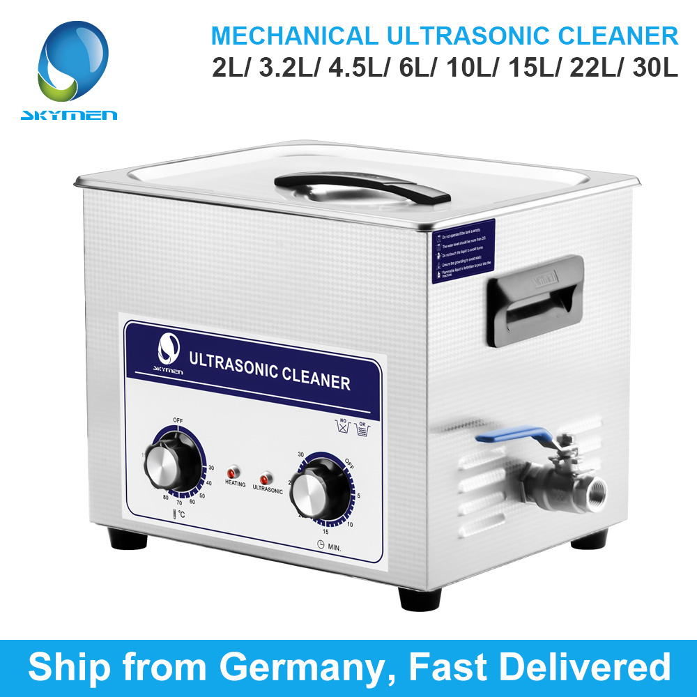 SKYMEN Mechanical Knob Ultrasonic Cleaner Bath 2L /3.2L/4.5L/6L/10L/15L/22L/30L Parts Cleaner Ultrasonic Cleaner Dental