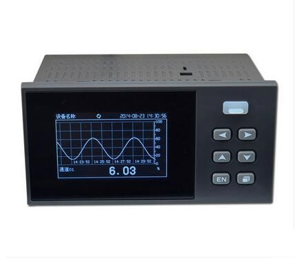1 4 Channel Paperless Recorder temperature pressure current voltage records Logging 320x200 LCD USB Modbus
