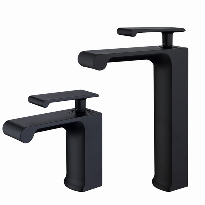 Free shipping matte black Brass single handle Bathroom Basin Faucet tap toilet water faucet. hot&cold basin sink Mixer Tap BL009 copper toilet wash basin faucet hot and cold bathroom sink basin faucet mixer water tap single hole basin faucet chrome plated