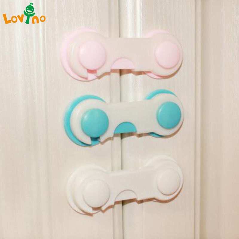 цены 10Pcs 1 set baby Drawer Lock Todder Child Kids Door Drawers Wardrobe Cabinet Safety Care protect Plastic Lock Pink Blue Cover