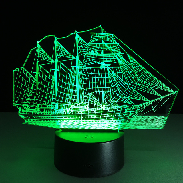 Pack de 40 unids Velero Camioneta pantalla Táctil del marco ilusión 3D juguete de regalo en caja de luz de flash Led a través de DHL.