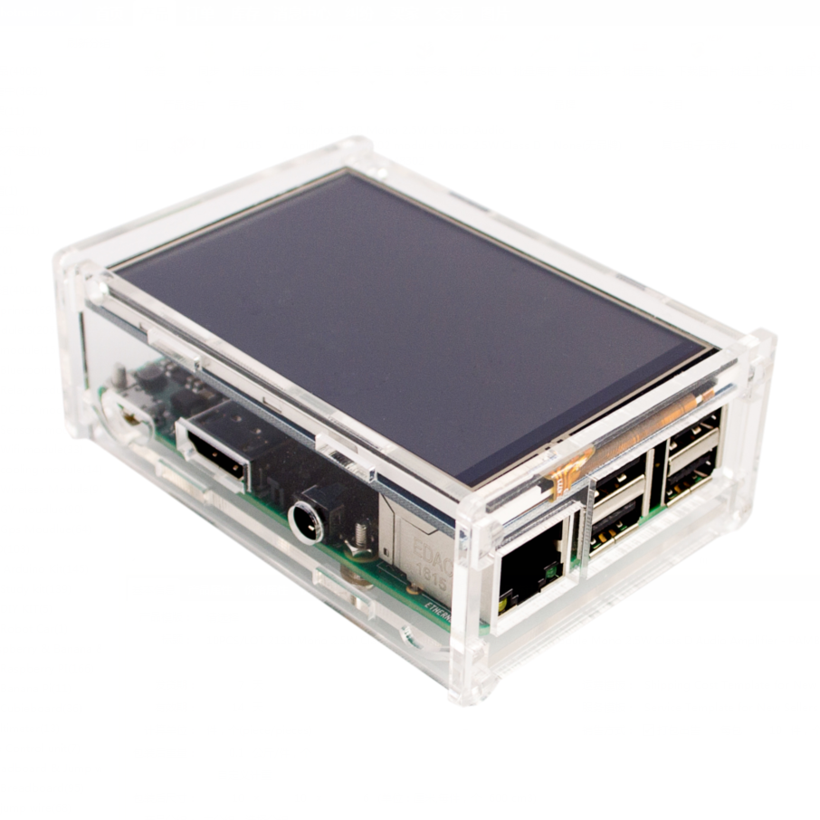 """Acrylic Case Compatible for Raspberry Pi 2 Pi3 Model B Original 3.5"""" LCD TFT Touch Screen Display"""