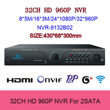 32 Channel NVR Network HD Video Recorder 32CH 960P 1080P IP Camera Recorder HDMI VGA Output Onvif P2P Icloud Mobile Phone View