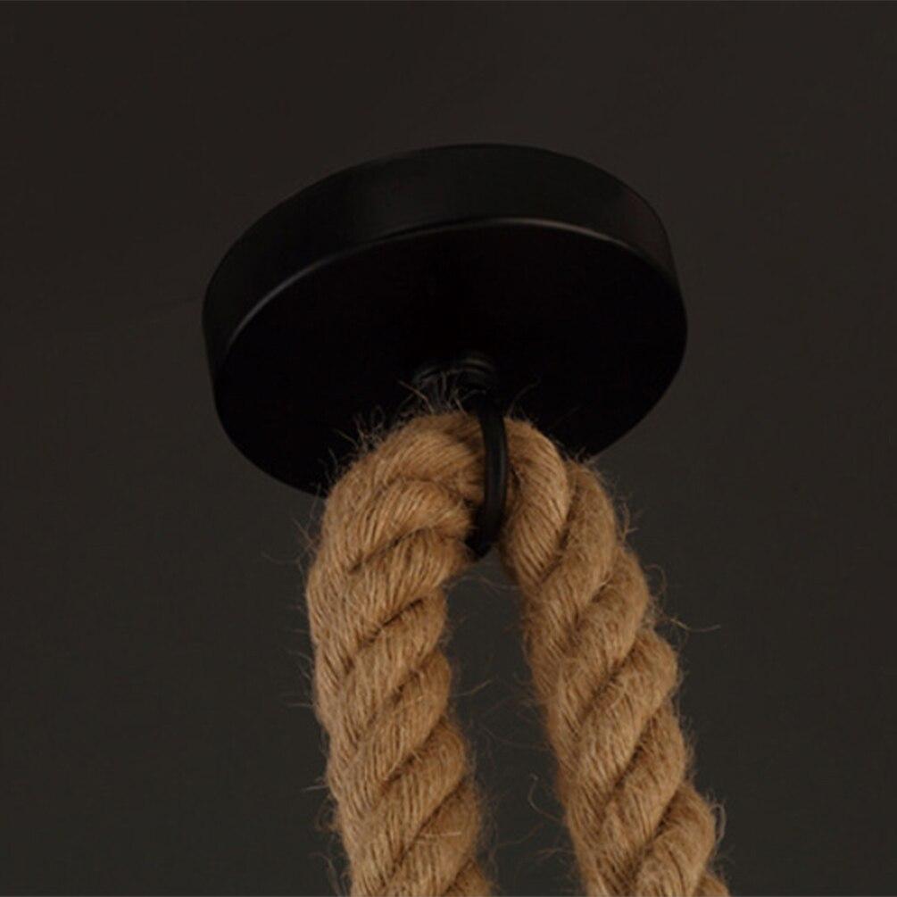 Vintage Hemp Rope Pendant Light Holder E27 1M 1.5M 2M 2.5M 3M AC85-265V Loft Personality Industrial Pendant Lamp Edison hanglamp