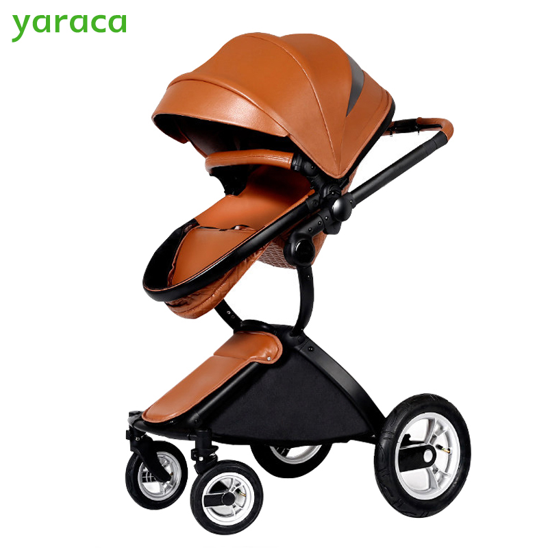 Luxury Strollers For Baby Foldable Portable Prams For Newborns Multifunction High Landscape Baby Carriage From Summer To Winter изотермический контейнер green glade 60 л c22600