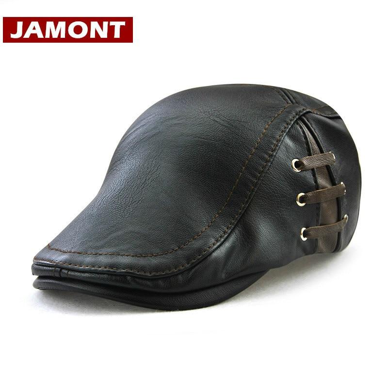 Golf-Driving-Hats Berets JAMONT Caps Gatsby-Hat Classic-Look Flat Vintage Winter Men's