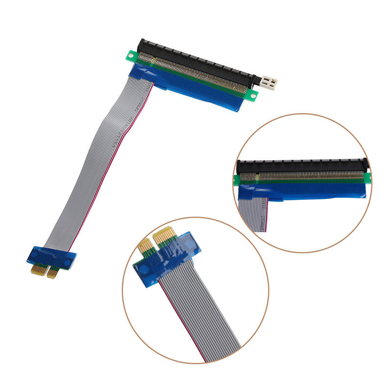 2018 High Quality PCIe 1x To 16x Extender Riser FFC PCI-E 1x-16x Flexible Flat Cable Computer Components & Parts DN001