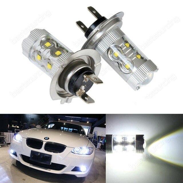 ANGRONG 2x H7 499 High Power 50W LED White Headlight Fog Light Driving Running Lamp