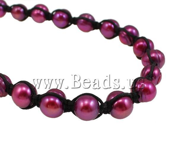 Free shipping!!!Natural Cultured Freshwater Pearl Jewelry Sets,2013 designers for men, bracelet & necklace, with Wax Cord, Oval