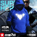 NightWing 2017 fashion mens hoodies luminous sportswear male sweatshirt  tracksuits hoody clothing man plus size XXXL