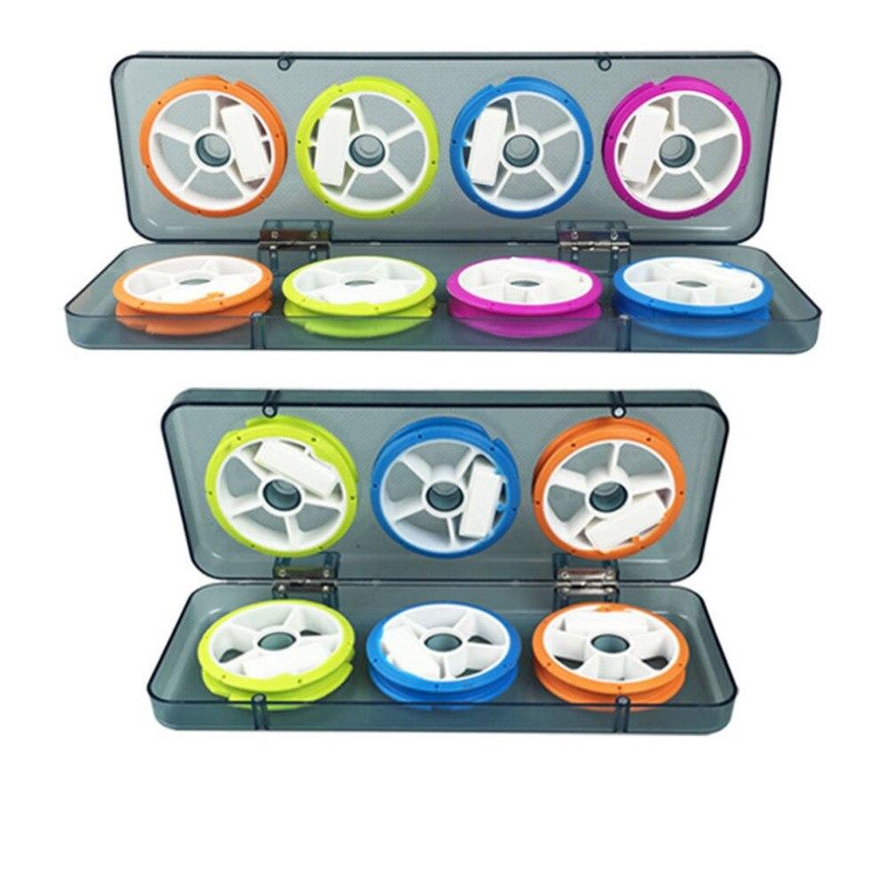 Tragbare Größe Angelschnur Lagerung Box Große Box Kunststoff Fishing Tackle Box Angeln Linie Lagerung Box Fall Fisch Werkzeug