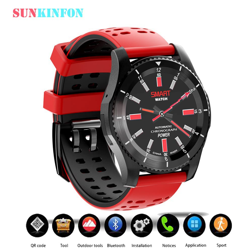 Smart Phone Watch KFGS8 BT4.0 Sport Wristwatch With Heart Rate Pedometer 2G SIM Card for iPhone Samsung LG HTC HuaWei Blackberry health monitoring bluetooth sync children s adults smart watch phone for iphone samsung huawei lg htc xiaomi so on smartphone