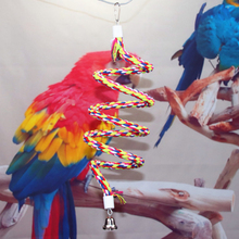 1 pcs Special Made Birds Toy Cotton Material Parrot Stand Rope Bar Springboard Climbing Ladder Holder Toys Supplies