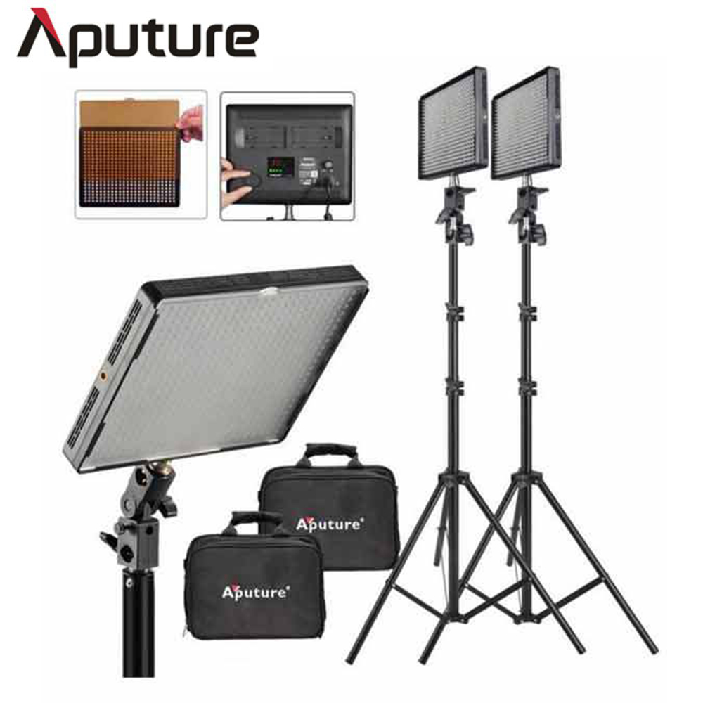 Aputure 2 SET 2 Amaran AL 528W LED Video Light 200cm Light Stand led video
