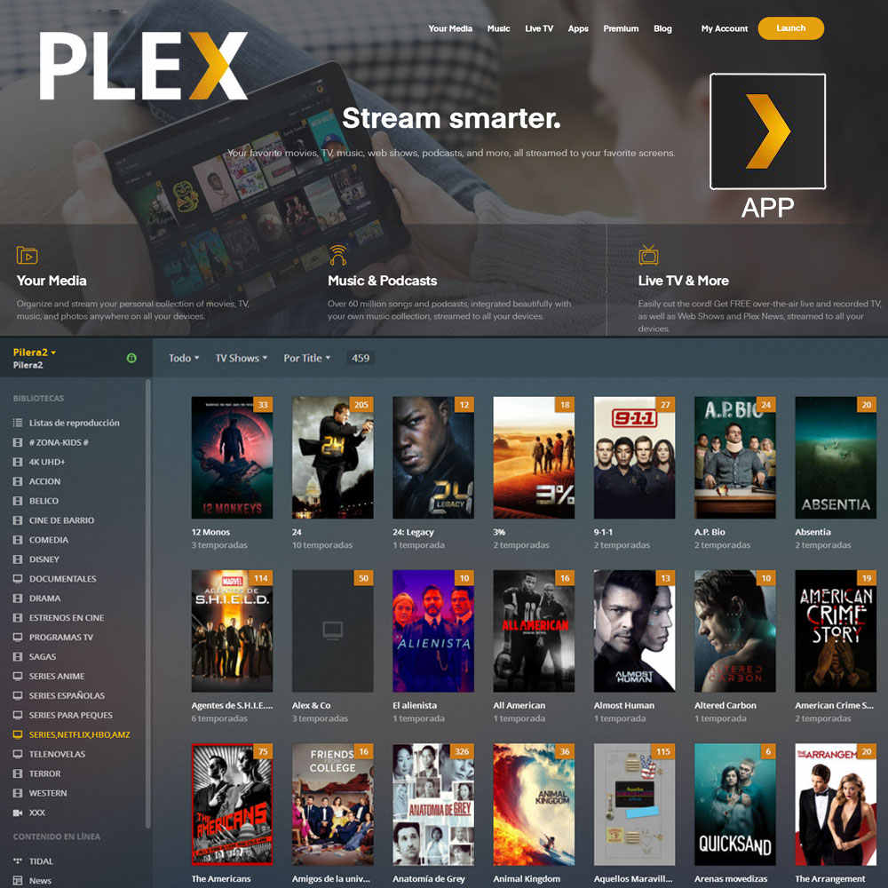 1 Year PLEX Account Spanish Version With NETFLIX HBO 4K UHD Adult Channels For Smart TV Box Android Mobile Smartphone Windows PC