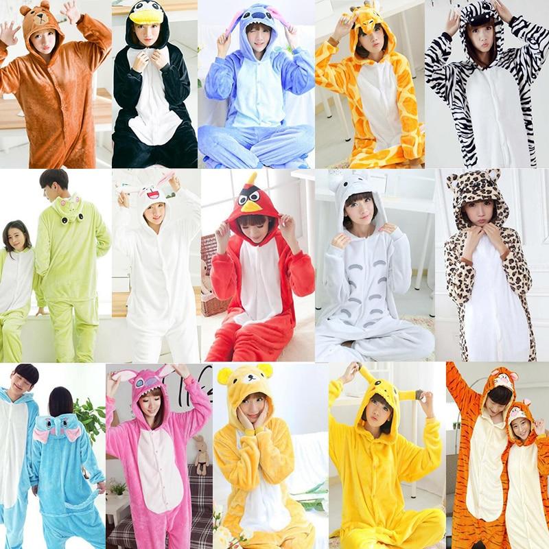 Blue Pajamas Sets Flannel Cute Animal Pajamas sets Winter Super Soft Flannel Nightie Cosplay Pyjamas Sleepwear kigurumi Cosplay