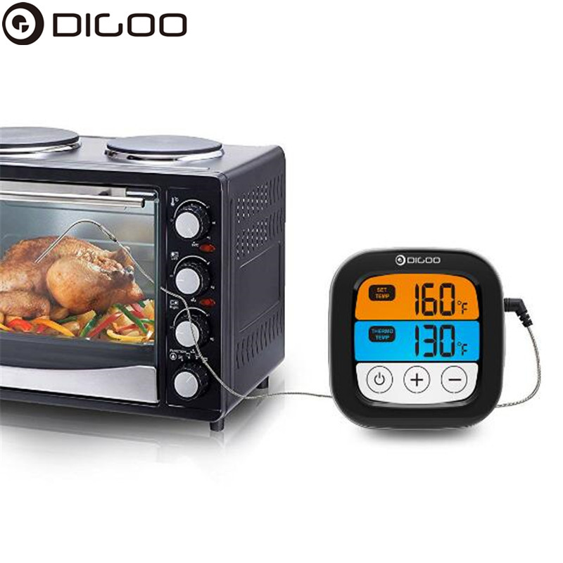 Digoo DG-FT2103 LED Touch Screen Digital Bluetooth Cooking Meat Thermometer Stainless Steel Temperature Probe For Meat Barbecue
