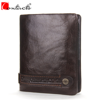 CONTACT S 2017 New Genuine Leather Small Men Wallet Brand Logo Design Fashion Wallets Luxury Dollar